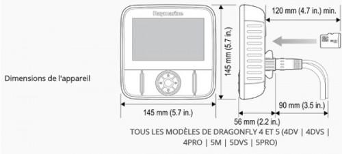 Combiné Sondeur/GPS Raymarine Dragonfly 4 Pro avec carte Europe Navionics