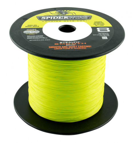 Tresse Spiderwire Stealth Smooth 8 Jaune