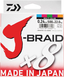 Tresse Daiwa 8 brins J-Braid