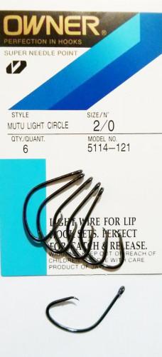 Hameçons Circle Owner Mutu Light 5114