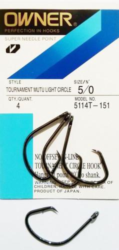 Hameçons Circle Owner Mutu Light Tournament 5114T