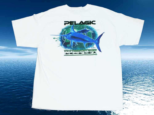 TEE-SHIRT PELAGIC BLANC MARLIN
