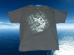 TEE-SHIRT PELAGIC GRIS MARLIN